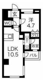スパシエルクス横浜8階Fの間取り画像