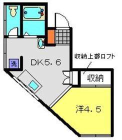 第3Z西村ビル3階Fの間取り画像