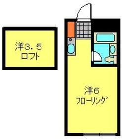 天王町駅 徒歩14分2階Fの間取り画像