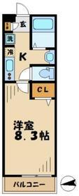 ELK越野2階Fの間取り画像