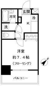 フォレシティ白金台5階Fの間取り画像