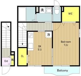 ベルコリーヌ2階Fの間取り画像