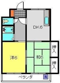 綱島駅 バス15分「駒岡八幡神社前」徒歩1分4階Fの間取り画像