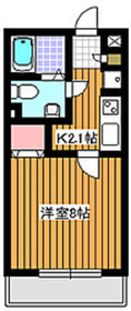 地下鉄成増駅 徒歩7分2階Fの間取り画像