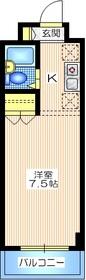 アルス川崎10階Fの間取り画像