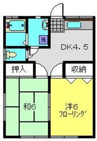 フラッツマキ1階Fの間取り画像