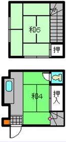 大塚貸家1階Fの間取り画像