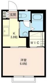 HIROコート1階Fの間取り画像