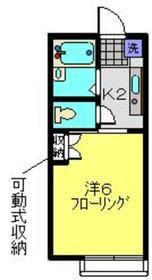ポットテラス1階Fの間取り画像