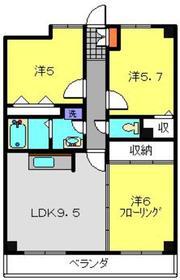 高田駅 徒歩5分2階Fの間取り画像