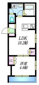 ラヴィクレール1階Fの間取り画像