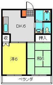 ヴァンヴェール日吉3階Fの間取り画像