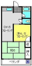 さんご荘1階Fの間取り画像