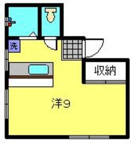 元住吉駅 徒歩2分4階Fの間取り画像