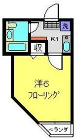 メゾンロワール横浜2階Fの間取り画像