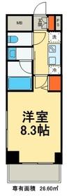 ヒューリック浅草橋江戸通6階Fの間取り画像