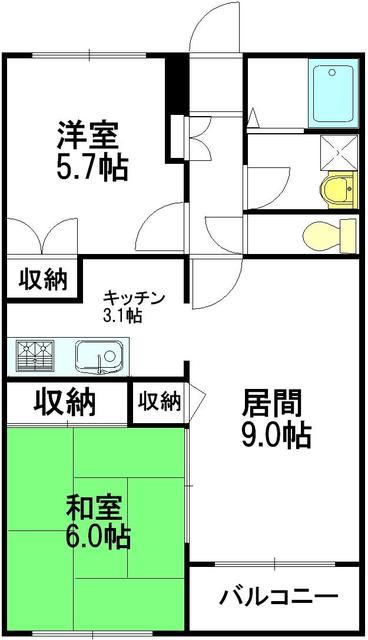 パーチェ東高円寺間取図