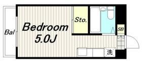 ストリームサイドスズキ2階Fの間取り画像