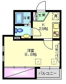 メゾン エスポワール2階Fの間取り画像
