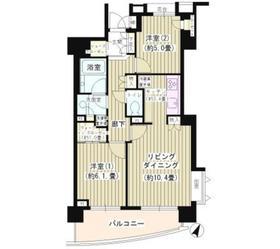 パークホームズ目黒アーバンレジデンス9階Fの間取り画像