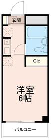 クレスト多摩川5階Fの間取り画像