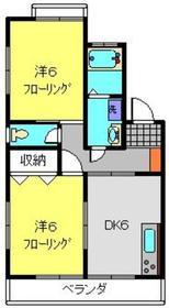 大倉山駅 徒歩15分2階Fの間取り画像