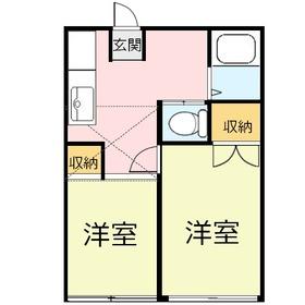 ロマンス上福岡2階Fの間取り画像