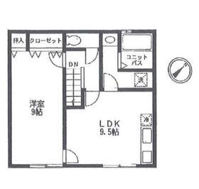 伊勢佐木町貸家 Ⅱ号棟2階Fの間取り画像