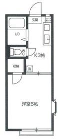 プラムハイツ狛江2階Fの間取り画像
