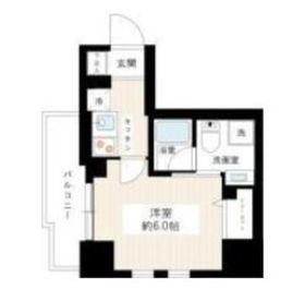 リヴシティ横濱関内6階Fの間取り画像