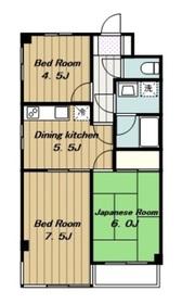 マンションアドミール2階Fの間取り画像