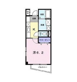 シャトルⅡ2階Fの間取り画像