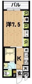 ファーレ川崎3階Fの間取り画像