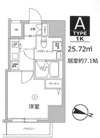 スカイコート板橋本町II8階Fの間取り画像