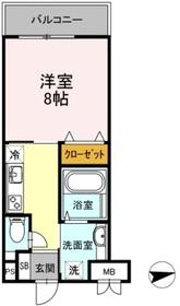 フォレスト浜田山3階Fの間取り画像
