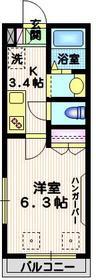 イーストメゾン2階Fの間取り画像