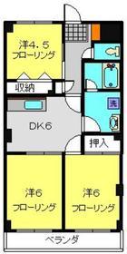 シャンド・フルール3階Fの間取り画像