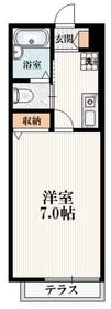 ブランメゾン日野1階Fの間取り画像
