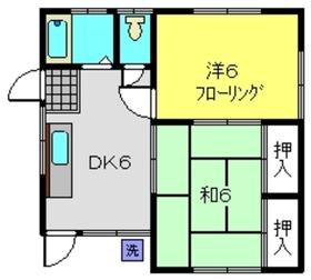 山本荘1階Fの間取り画像