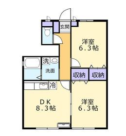 オリエンタル・コートA1階Fの間取り画像