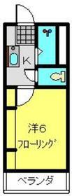 シャトール田口戸塚Ⅰ5階Fの間取り画像