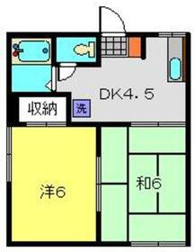 マルキハイツ1階Fの間取り画像
