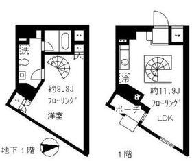 STEPS1階Fの間取り画像