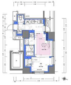 ディームス大手町ノース12階Fの間取り画像