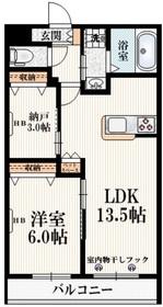 高幡不動駅 徒歩7分2階Fの間取り画像
