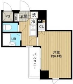 メインステージ日本橋箱崎Ⅱ4階Fの間取り画像