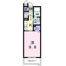 エクセル ヤマノ3階Fの間取り画像