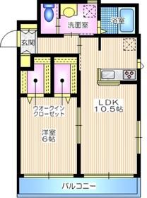 アルカディア1階Fの間取り画像