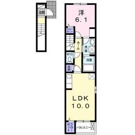 リジエール・ウエスト2階Fの間取り画像