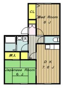 橋本駅 バス8分「上九沢」徒歩3分2階Fの間取り画像